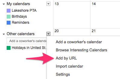 Lakeshore Elementary School » Add the Lakeshore Calendar to